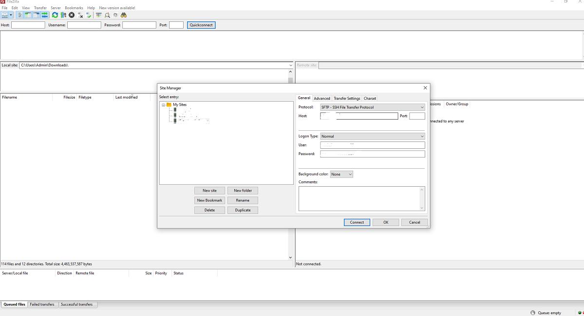 Upload wordpress files from FTP