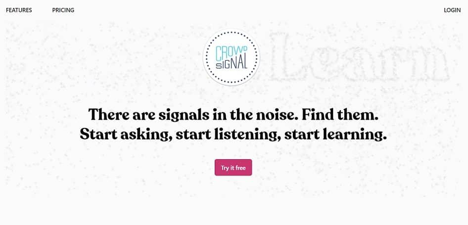 Crowdsignal Homepage